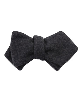 Charcoal Grey Dorset Wool Diamond Self Bow Tie