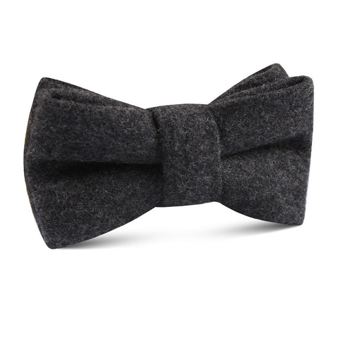 Charcoal Grey Dorset Wool Kids Bow Tie