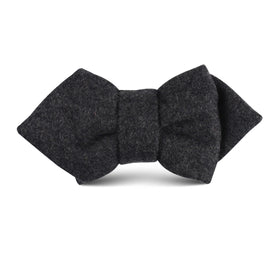 Charcoal Grey Dorset Wool Kids Diamond Bow Tie