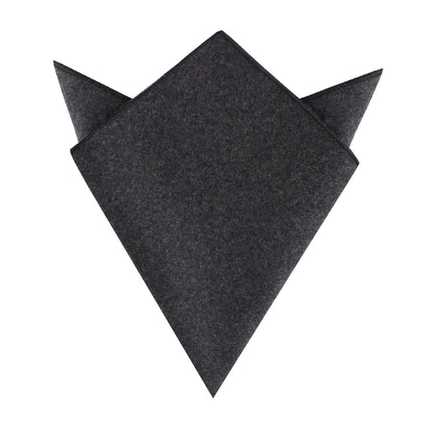Charcoal Grey Dorset Wool Pocket Square