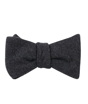 Charcoal Grey Dorset Wool Self Bow Tie