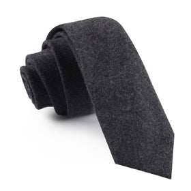 Charcoal Grey Dorset Wool Skinny Tie