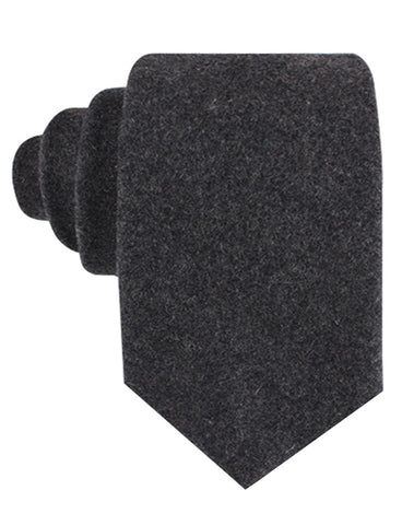Charcoal Grey Dorset Wool Tie