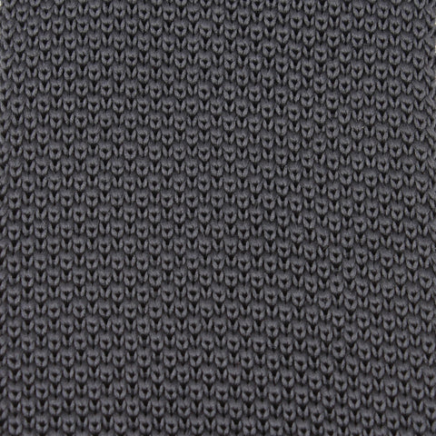 Charcoal Grey Knitted Tie