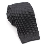 Charcoal Grey Knitted Tie OTAA