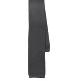 Charcoal Grey Knitted Tie  Shape View