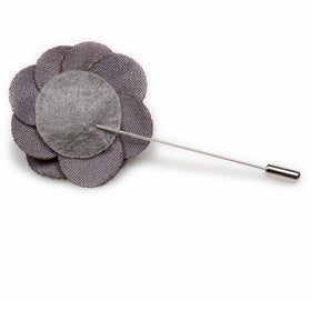 Charcoal Grey Lapel Flower