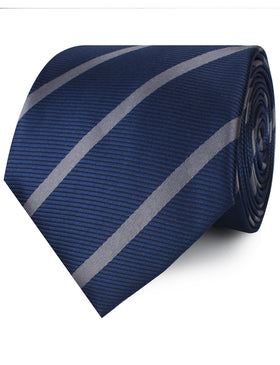 Charcoal Grey Striped Necktie