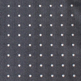 Charcoal Grey with White Polka Dots Fabric Necktie M121