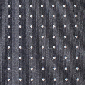 Charcoal Grey with White Polka Dots Pocket Square