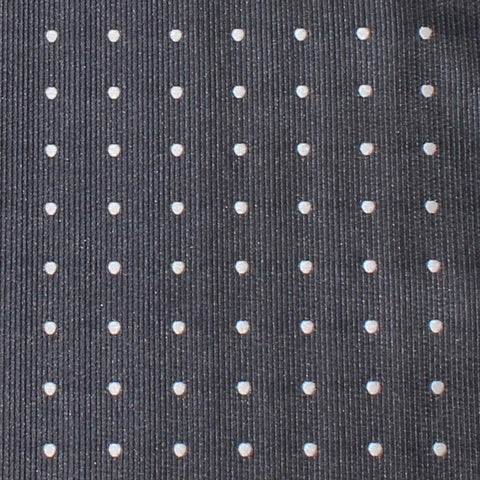 Charcoal Grey with White Polka Dots Skinny Tie