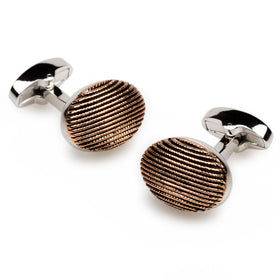 Charlemagne Rose Gold Cufflinks