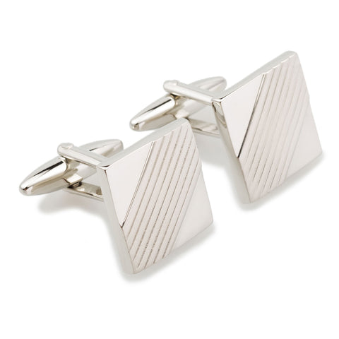 Charles de Gaulle Silver Square Cufflinks