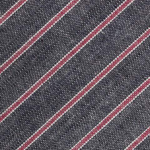 Cherry Red Pinstripe Pocket Square