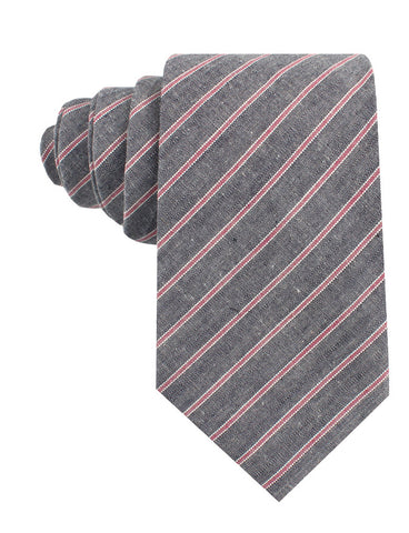 Cherry Red Pinstripe Tie