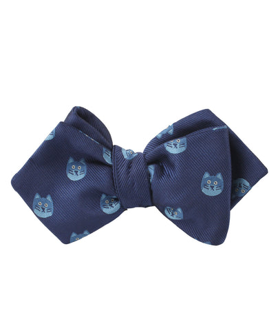 Cheshire Cat Face Diamond Self Bow Tie