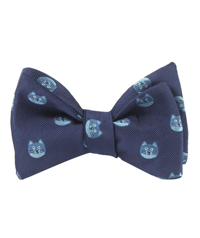 Cheshire Cat Face Self Bow Tie
