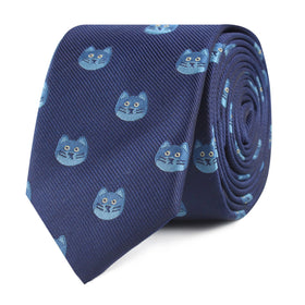Cheshire Cat Face Skinny Tie