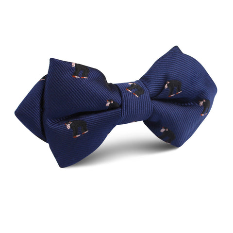 Chimpanzee Monkey Diamond Bow Tie