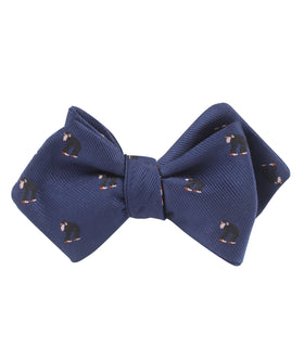Chimpanzee Monkey Diamond Self Bow Tie