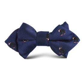 Chimpanzee Monkey Kids Diamond Bow Tie