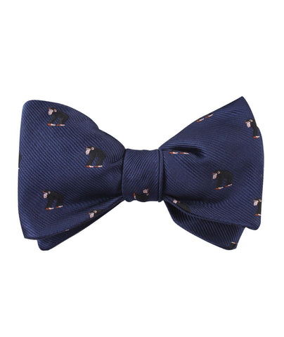 Chimpanzee Monkey Self Bow Tie