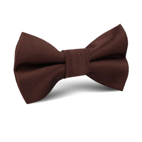 Chocolate Brown Twill Kids Bow Tie