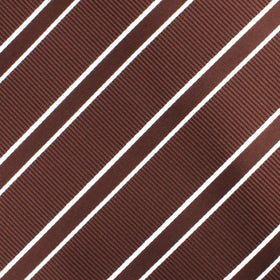 Chocolate Brown Double Stripe Bow Tie