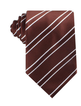 Chocolate Brown Double Stripe Necktie