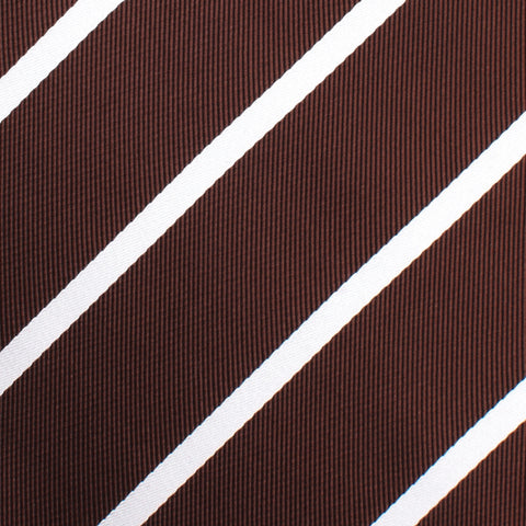 Chocolate Brown Striped Pocket Square