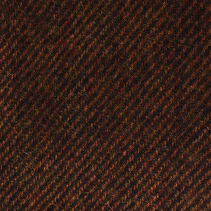 Chocolate Brown Striped Wool Pocket Square