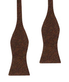 Chocolate Brown Striped Wool Self Bow Tie