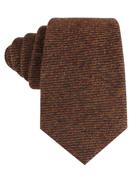 Chocolate Brown Striped Wool Tie