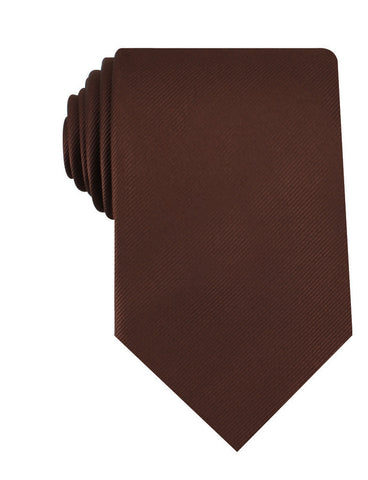 Chocolate Brown Twill Necktie
