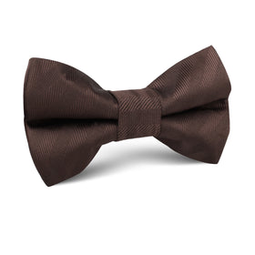 Cinnamon Brown Striped Kids Bow Tie