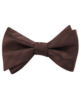 Cinnamon Brown Striped Self Bow Tie