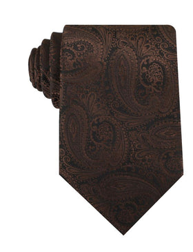 Cinnamon Brown Paisley Necktie