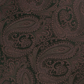 Cinnamon Brown Paisley Pocket Square