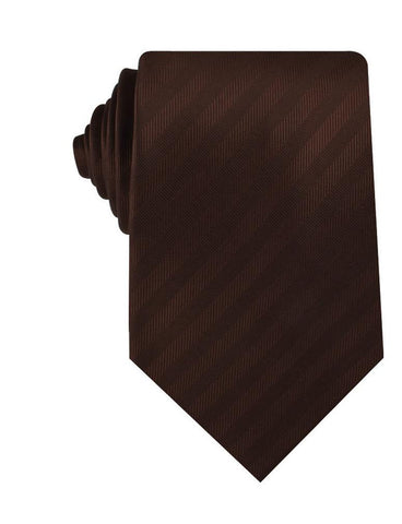 Cinnamon Brown Striped Necktie
