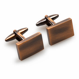 Classic Antique Copper Rectangle Cufflinks