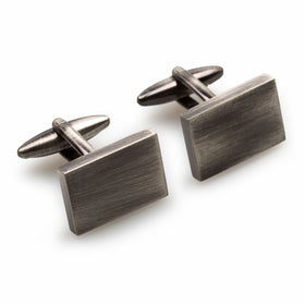 Classic Antique Silver Rectangle Cufflinks