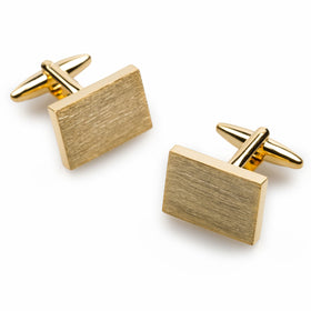 Classic Gold Rectangle Cufflinks
