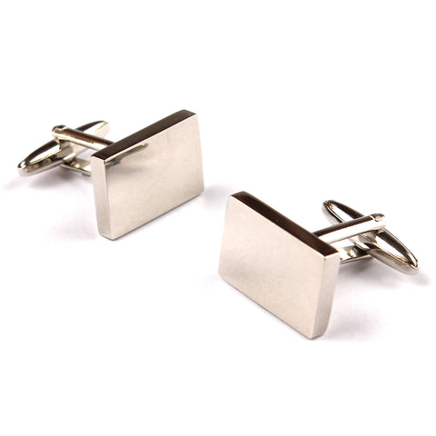 Classic Silver Rectangle Cufflinks