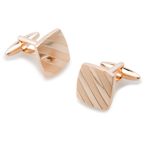 Cleopatra Brushed Rose Gold Cufflinks