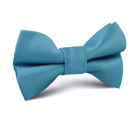 Coastal Blue Twill Kids Bow Tie