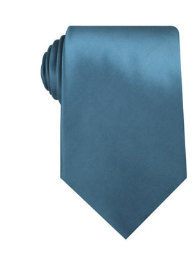 Coastal Blue Satin Necktie
