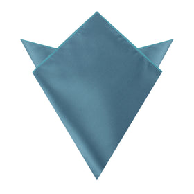 Coastal Blue Satin Pocket Square