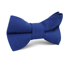 Cobalt Blue Linen Kids Bow Tie