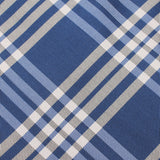 Cobalt Blue with White Stripes Necktie Fabric