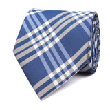 Cobalt Blue with White Stripes Necktie Front View